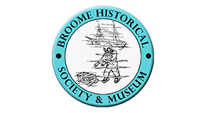 Broome Historical Society logo link to research request page