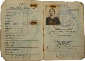 Passport of passenger from the dutch planes