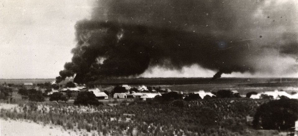 Broome attacked by Japanese Zero fighter planes