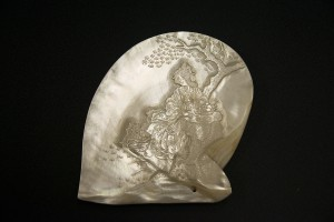 Japanese style carved pearl shell
